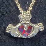 Claddagh Pewter Pendant - Red *Retired*
