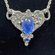 Victorian Heart Pewter Pendant - Blue *Retired*